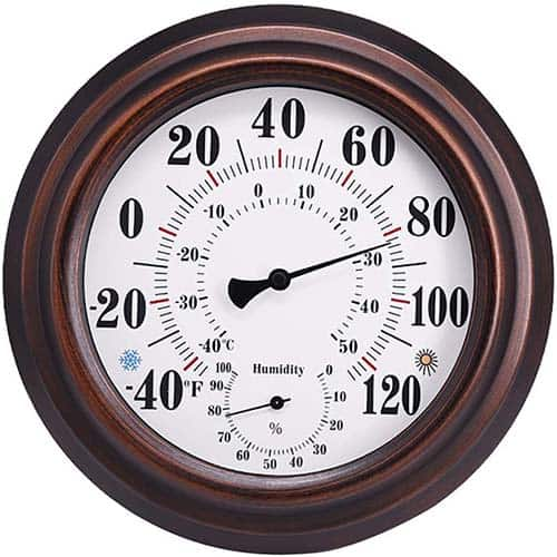 Indoor Outdoor Wall Thermometer and Hygrometer