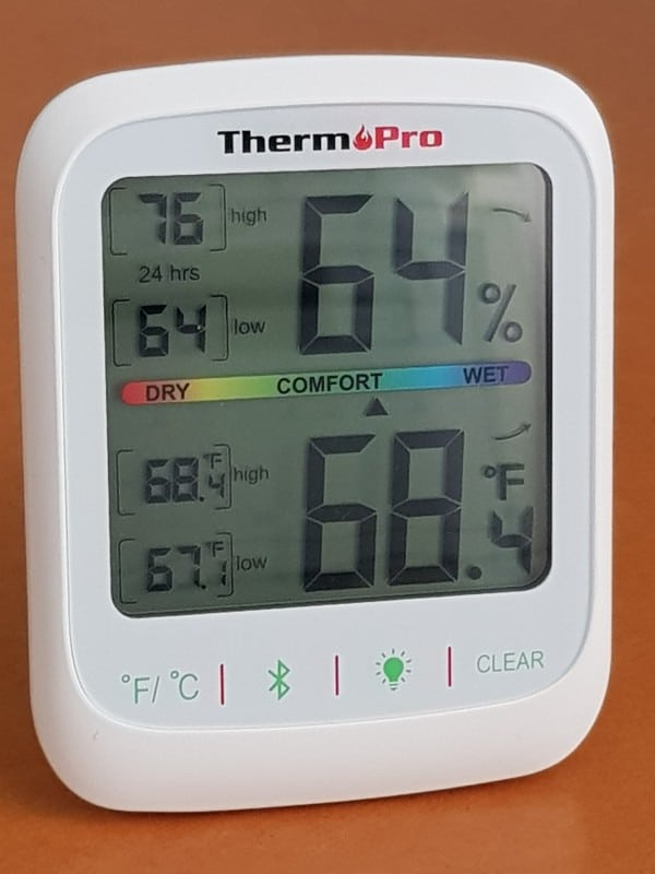 ThermoPro TP59 indoor temperature and humidity monitor degrees fahrenheit