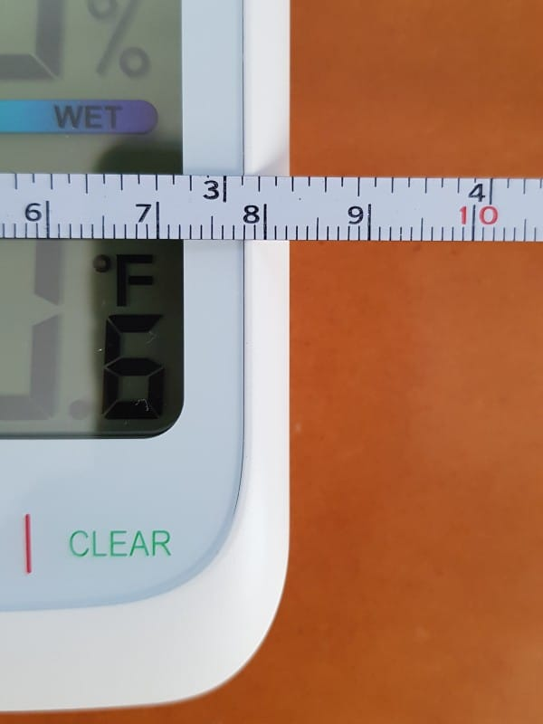 ThermoPro TP59 indoor temperature and humidity monitor width